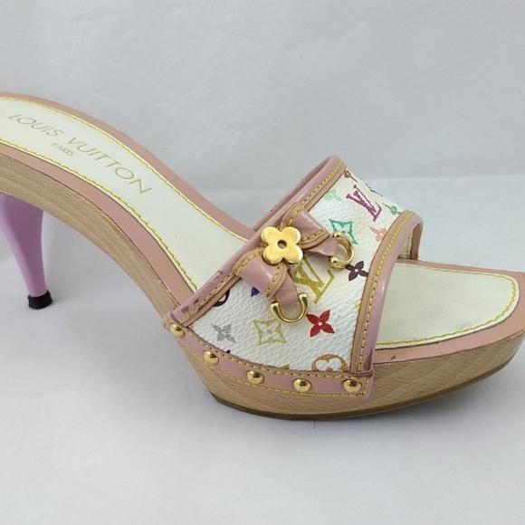 dc16a42b5680 Louis Vuitton Shoes - Louis Vuitton 37 Multi Color Monogram Sandals